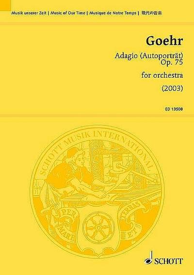 Adagio op.75 : for orchestrastudy score