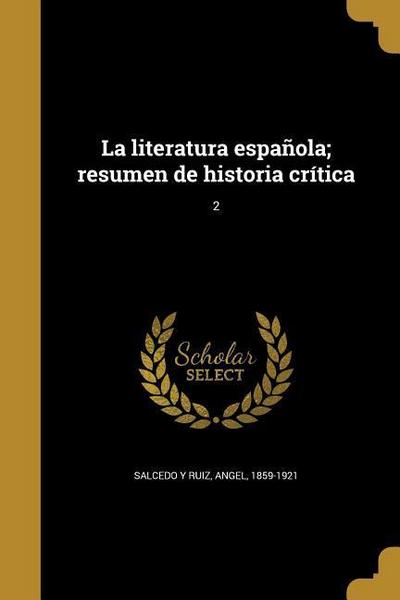 SPA-LITERATURA ESPANOLA RESUME