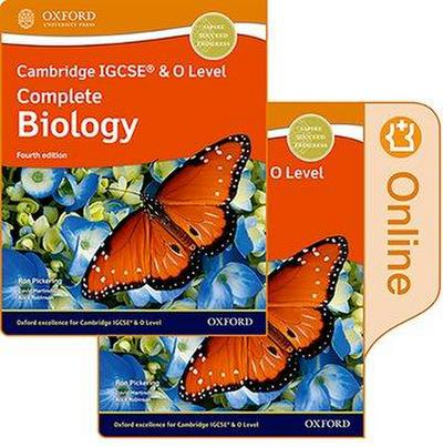 Cambridge IGCSE & O Level Complete Biology: Print and Enhanced Online Student Book Pack Fourth Edition