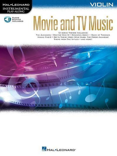 Movie and TV Music for Violin: Instrumental Play-Along Series [With Access Code]
