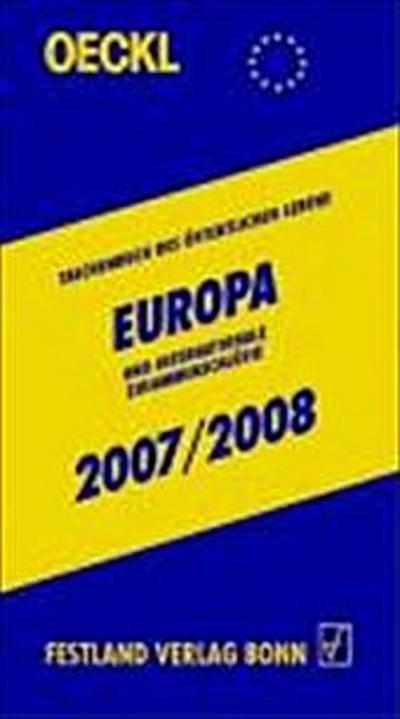 Taschenbuch des Öffentlichen Lebens, Europa und internationale Zusammenschlüsse