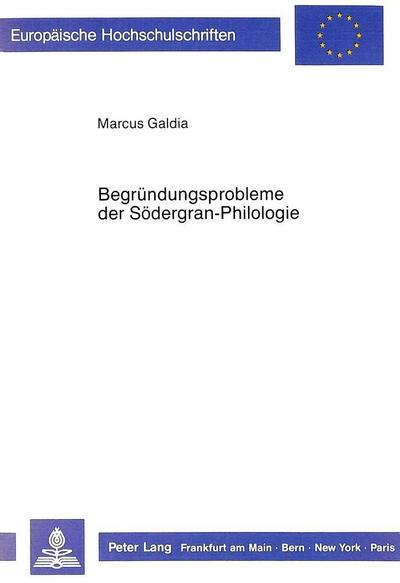 Begründungsprobleme der Södergran-Philologie