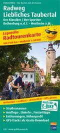 Radweg Liebliches Taubertal, Rothenburg o.d.T. - Wertheim a. M. 1 : 50 000