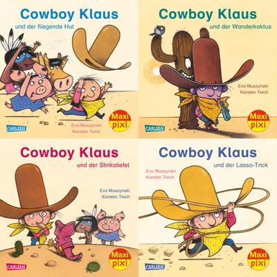 Maxi-Pixi-Serie Nr. 54: Cowboy Klaus. 4 x 5 Exemplare