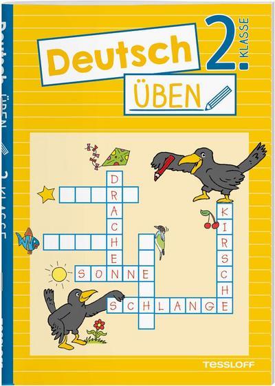 Deutsch üben 2. Klasse; Wortarten erkennen, richtig schreiben, genau lesen; Ill. v. Honnen, Falko; Deutsch; farb.