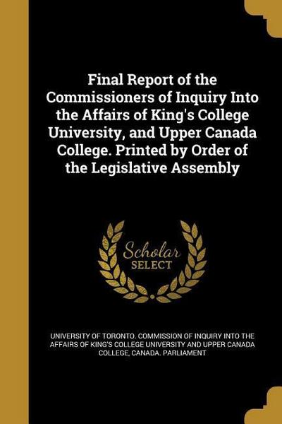 FINAL REPORT OF THE COMMISSION