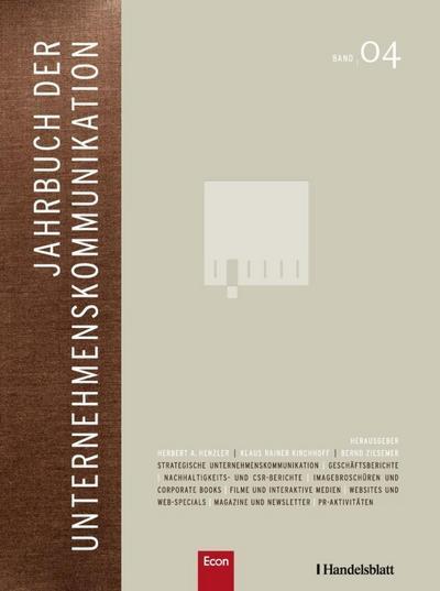 Jahrbuch der Unternehmenskommunikation 2010. Bd.4