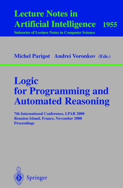 Logic for Programming and Automated Reasoning