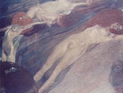 Gustav Klimt - Bewegte Wasser - 200 Teile (Puzzle)