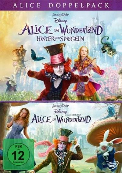 Alice im Wunderland 1+2 (Pack), 2 DVD