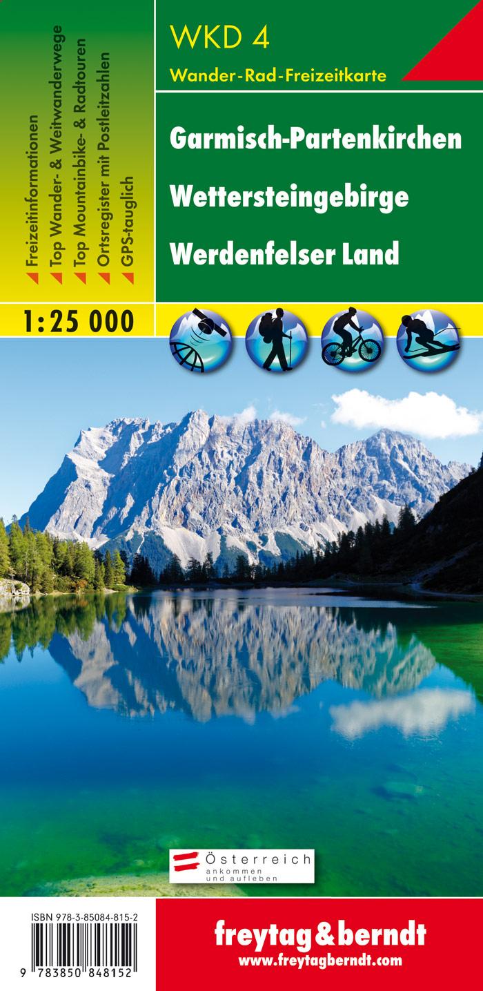 Garmisch-Partenkirchen: Wettersteingebirge, Werdenfelser Land 1 : 25 000,