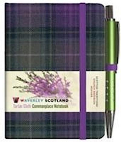 Heather Tartan: Mini Notebook with Pen: 10.5 x 7cm: Scottish Traditions: Waverley Genuine Tartan Cloth Commonplace Notebook