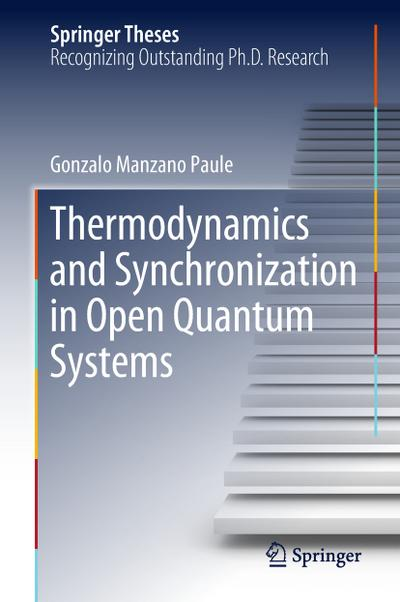 Thermodynamics and Synchronization in Open Quantum Systems