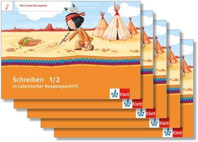 Mein Indianerheft. Schreiben in Lateinischer Ausgangsschrift. Schreiblehrgang Klasse 1/2 (5-er Paket)