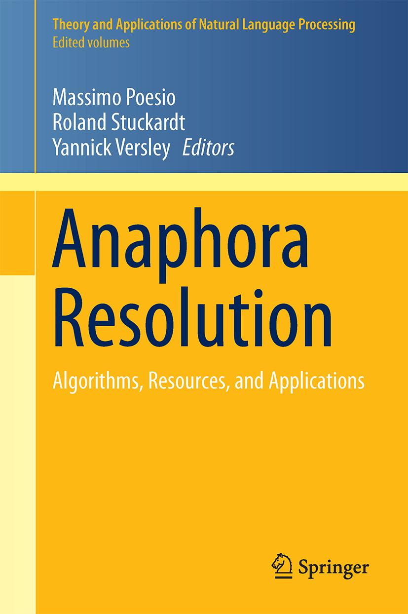 Anaphora Resolution Massimo Poesio