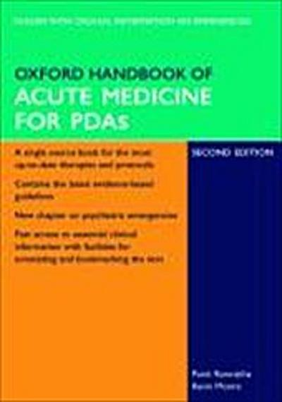 Oxford Handbook of Acute Medicine for PDA (Oxford Handbooks)