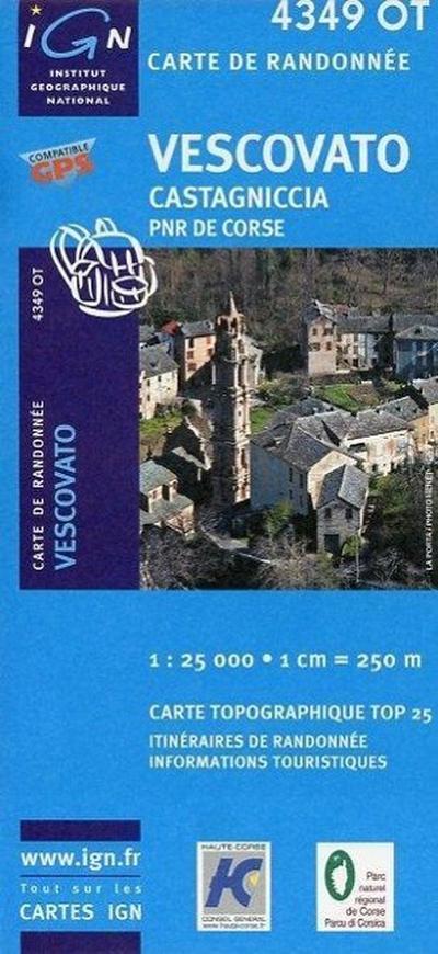 Korsika Vescovato - Castagniccia 1 : 25 000