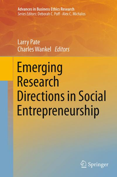 Emerging Research Directions in Social Entrepreneurship