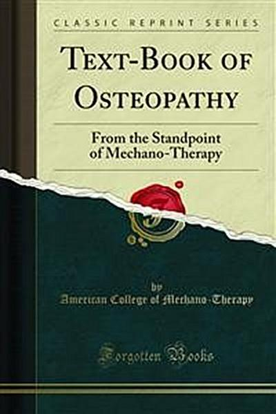 Text-Book of Osteopathy
