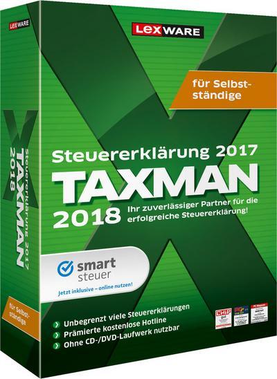 Taxman 2018 für Selbstständige, 1 DVD-ROM