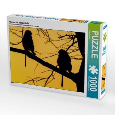 Paviane im Morgenlicht (Puzzle)
