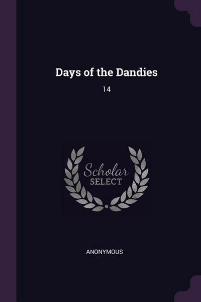 Days of the Dandies: 14