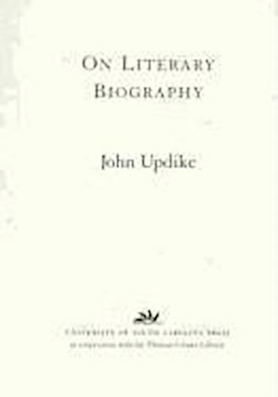 On Literary Biography