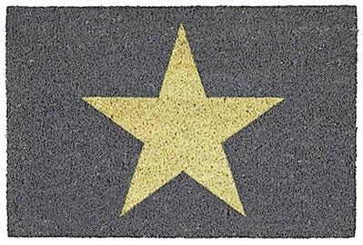 Star, Fussmatte, grau