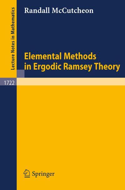 Elemental Methods in Ergodic Ramsey Theory
