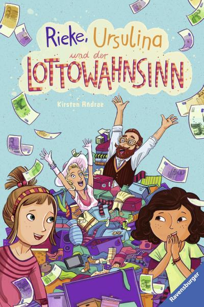 Rieke, Ursulina und der Lottowahnsinn; HC - Kinderliteratur; Ill. v. Hänsch, Lisa; Deutsch; mit schw.-w. Ill.