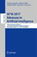 AI*IA 2017: Advances in Artificial Intelligence