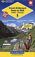 KuF Schweiz Wanderkarte 22 Grand-St-Bernard / ...
