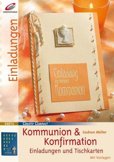 Zur Kommunion & Konfirmation: Einladungen & Tischkarten