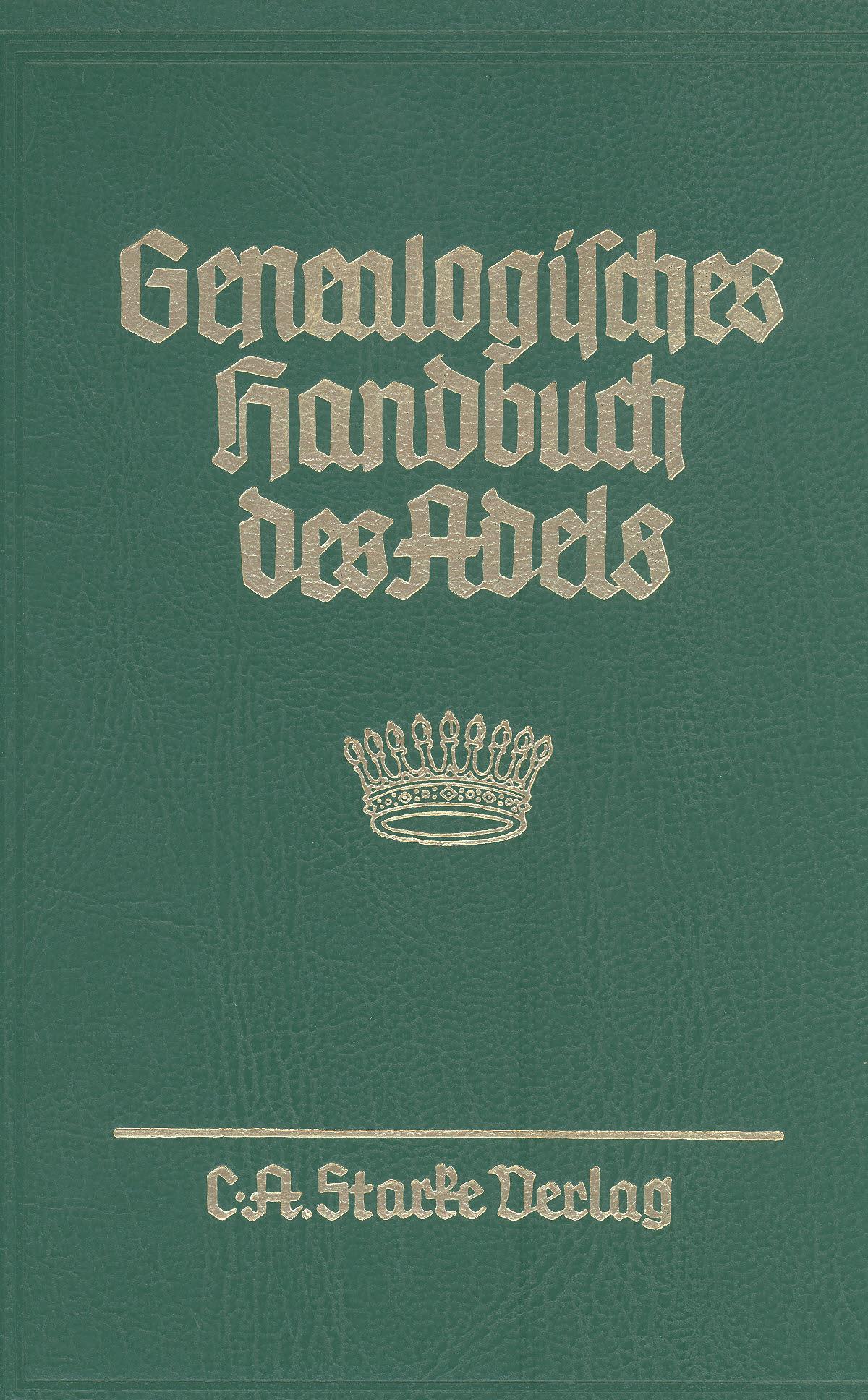 Genealogisches Handbuch des Adels -  -  9783798008533