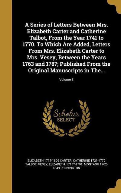 SERIES OF LETTERS BETWEEN MRS