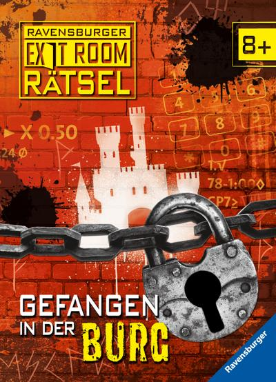 Ravensburger Exit Room Rätsel: Gefangen in der Burg; Ill. v. Lohr, Stefan; Deutsch; durchg. farb. Ill.; Warnhinweis nach Spielzeug-VO nicht erforderlich.