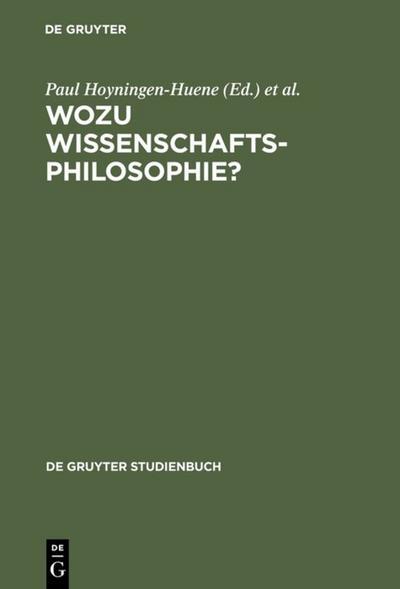 Wozu Wissenschaftsphilosophie?