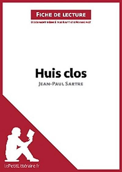 Huis clos de Jean-Paul Sartre (Fiche de lecture)