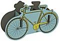 Stiftebox Fahrrad gelb
