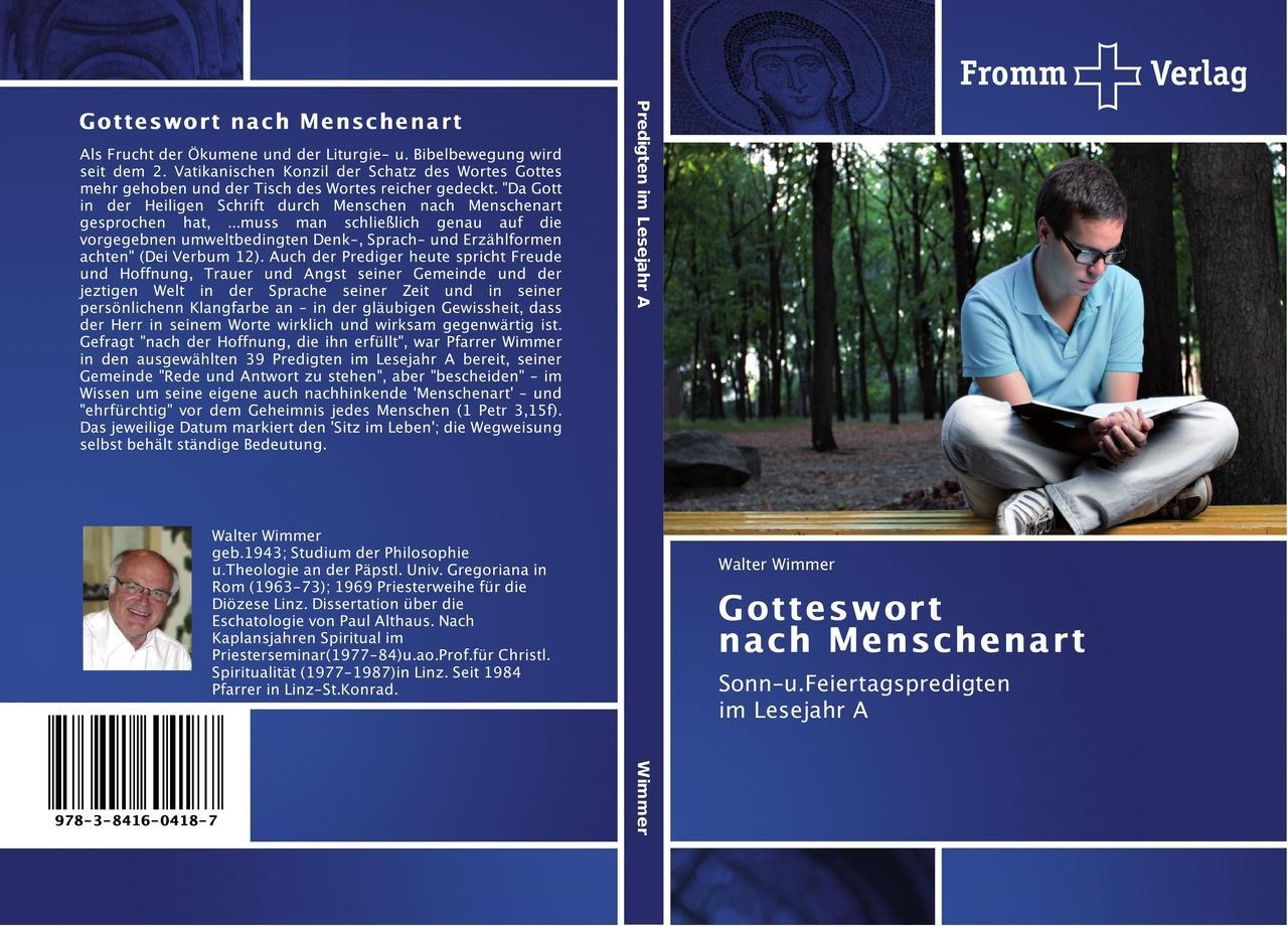 Walter Wimmer / Gotteswort   nach Menschenart 9783841604187