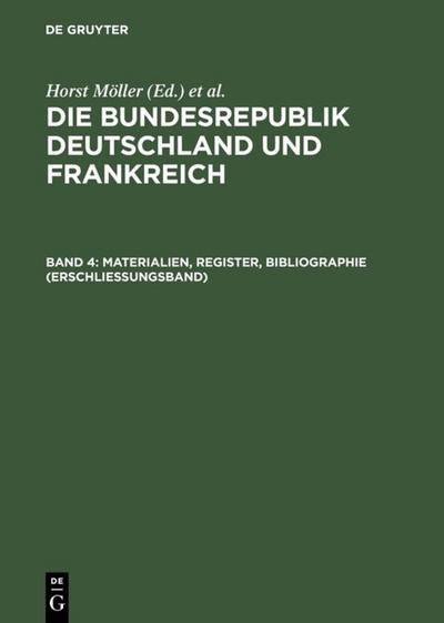 Materialien, Register, Bibliographie (Erschlieungsband)