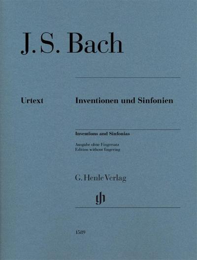 Inventionen und Sinfonien für Klavier zu zwei Händen. Urtextausgabe ohne Fingersatz