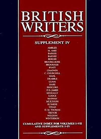 British Writers: Supplement