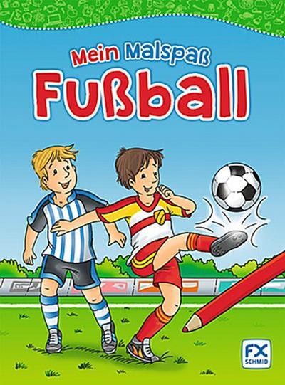 Mein Malspaß Fußball; Deutsch; durchg. schw.-w. Ill.
