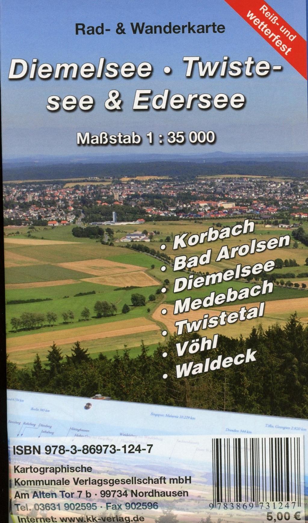 Diemelsee - Twistesee - Edersee 1 : 35 000,