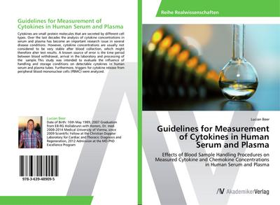 Guidelines for Measurement of Cytokines in Human Serum and Plasma
