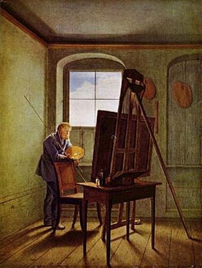 Georg Friedrich Kersting - Caspar David Friedrich in seinem Atelier - 200 Teile (Puzzle)