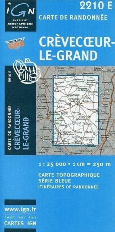 Crèvecoeur-le-Grand 1 : 25 000