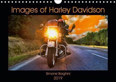 Images of Harley Davidson (Wall Calendar 2019 DIN A4 Landscape)