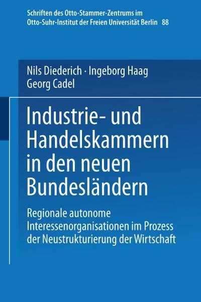 Industrie- und Handelskammern in den neuen Bundeslandern
